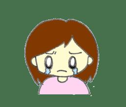 Girl negative sticker #1395785