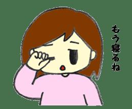 Girl negative sticker #1395794