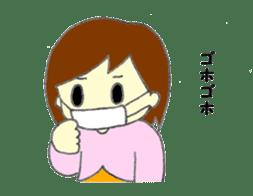 Girl negative sticker #1395807