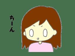 Girl negative sticker #1395809