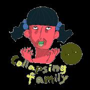 สติ๊กเกอร์ไลน์ Collapsing Family