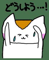 Mr queue of cat Japanese version sticker #1402231