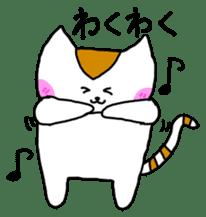 Mr queue of cat Japanese version sticker #1402233