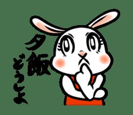 rabbitcouple sticker #1402976