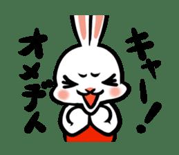 rabbitcouple sticker #1402978