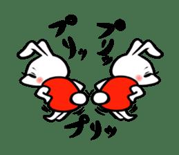 rabbitcouple sticker #1402981