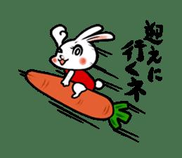 rabbitcouple sticker #1402986