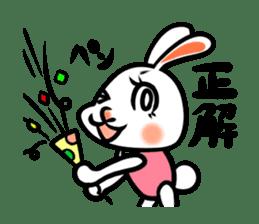 rabbitcouple sticker #1402990