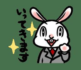rabbitcouple sticker #1402993
