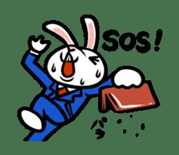 rabbitcouple sticker #1402994