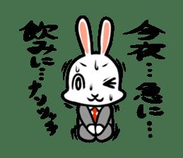 rabbitcouple sticker #1402996