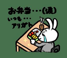rabbitcouple sticker #1402998
