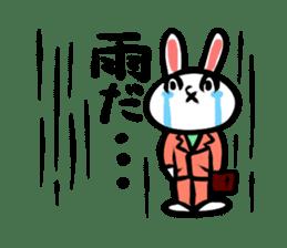 rabbitcouple sticker #1403007