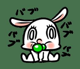 rabbitcouple sticker #1403009