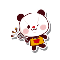 The stuffed animal of a Panda sticker #1403553