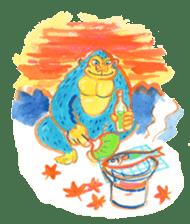BLUE GORILLA 2 sticker #1408379