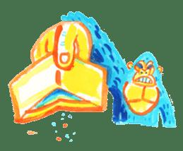 BLUE GORILLA 2 sticker #1408380