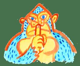 BLUE GORILLA 2 sticker #1408384