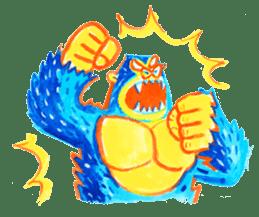 BLUE GORILLA 2 sticker #1408394