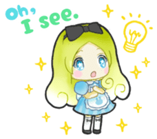 Alice day-to-day (English ver.) sticker #1410412