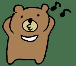 Mr moon bear sticker #1411971