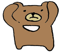 Mr moon bear sticker #1411998