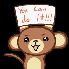 Kawaii Monkey Aren Stickers