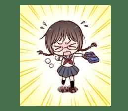 Schoolgirl with glasses sticker #1413333