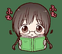 Schoolgirl with glasses sticker #1413336