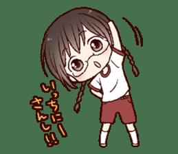Schoolgirl with glasses sticker #1413343