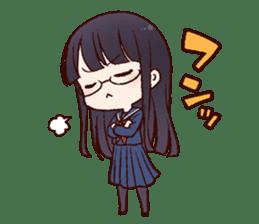 Schoolgirl with glasses sticker #1413352