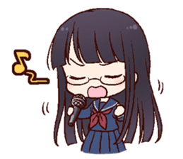 Schoolgirl with glasses sticker #1413357