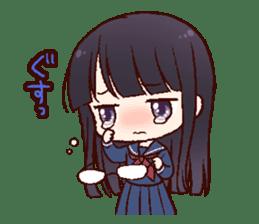 Schoolgirl with glasses sticker #1413361