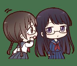 Schoolgirl with glasses sticker #1413368
