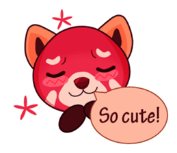 Red Pandas - English sticker #1417290