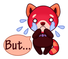 Red Pandas - English sticker #1417292