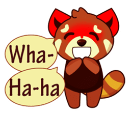 Red Pandas - English sticker #1417293