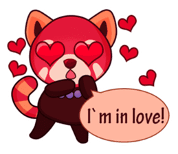 Red Pandas - English sticker #1417294