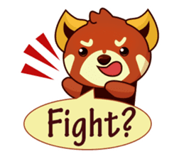 Red Pandas - English sticker #1417297