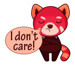 Red Pandas - English sticker #1417298