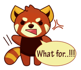 Red Pandas - English sticker #1417301