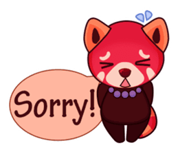 Red Pandas - English sticker #1417302