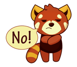 Red Pandas - English sticker #1417305