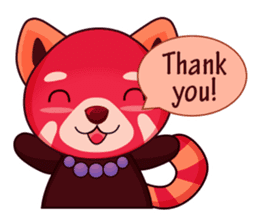 Red Pandas - English sticker #1417308