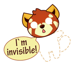 Red Pandas - English sticker #1417309