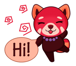 Red Pandas - English sticker #1417310