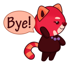 Red Pandas - English sticker #1417316