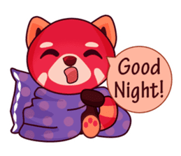 Red Pandas - English sticker #1417318