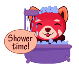 Red Pandas - English sticker #1417320