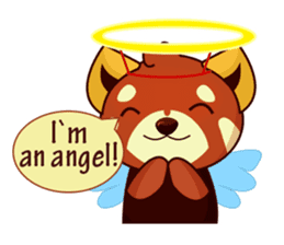 Red Pandas - English sticker #1417321